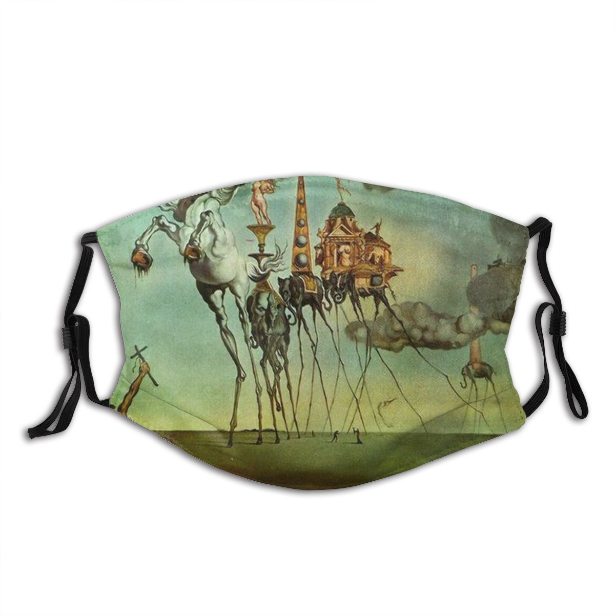 Salvador dali surrealismo arte reutilizável máscara facial anti haze dustproof máscara com filtros capa de proteção respirador boca muffle