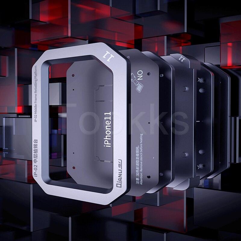 QIANLI ip-01 ip-02 medio marco reboleo de plataforma para iPhone X-iPhone 11 Pro Max capa media Placa de soldadura