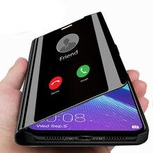 Ayna flip standı kılıfı Için Huawei honor 8x 8c 8 s Akıllı telefon Kapak honor 10 lite ışık honor 10 10i x8 c8 s8 8 x s Durumlarda coque