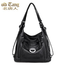 OLD TANG 2021 Spring New Luxury Multi-function Shoulder Bags for Women 2021 Large Capacity Pu Leathe