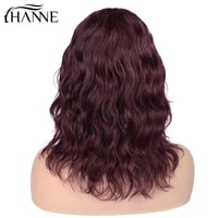 short lace part wigs for black women human hair wig natural wave wig lace middle part brazilian remy wig 150 natural black burg