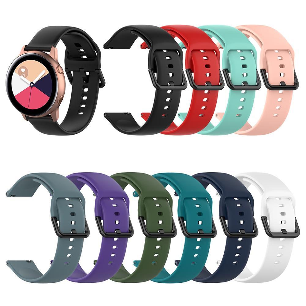 Reloj pulsera Womdee Compatible con Samsung Galaxy, correa de silicona activa de 40mm 20mm de ancho para Galaxy Watch, reloj inteligente activo SM-R500