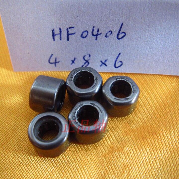20-100 piezas HF0406 de una forma de embrague de la aguja del cojinete del rodillo 4x8x6mm de una sola forma de aguja rodamientos 4mm * 8mm * 6mm