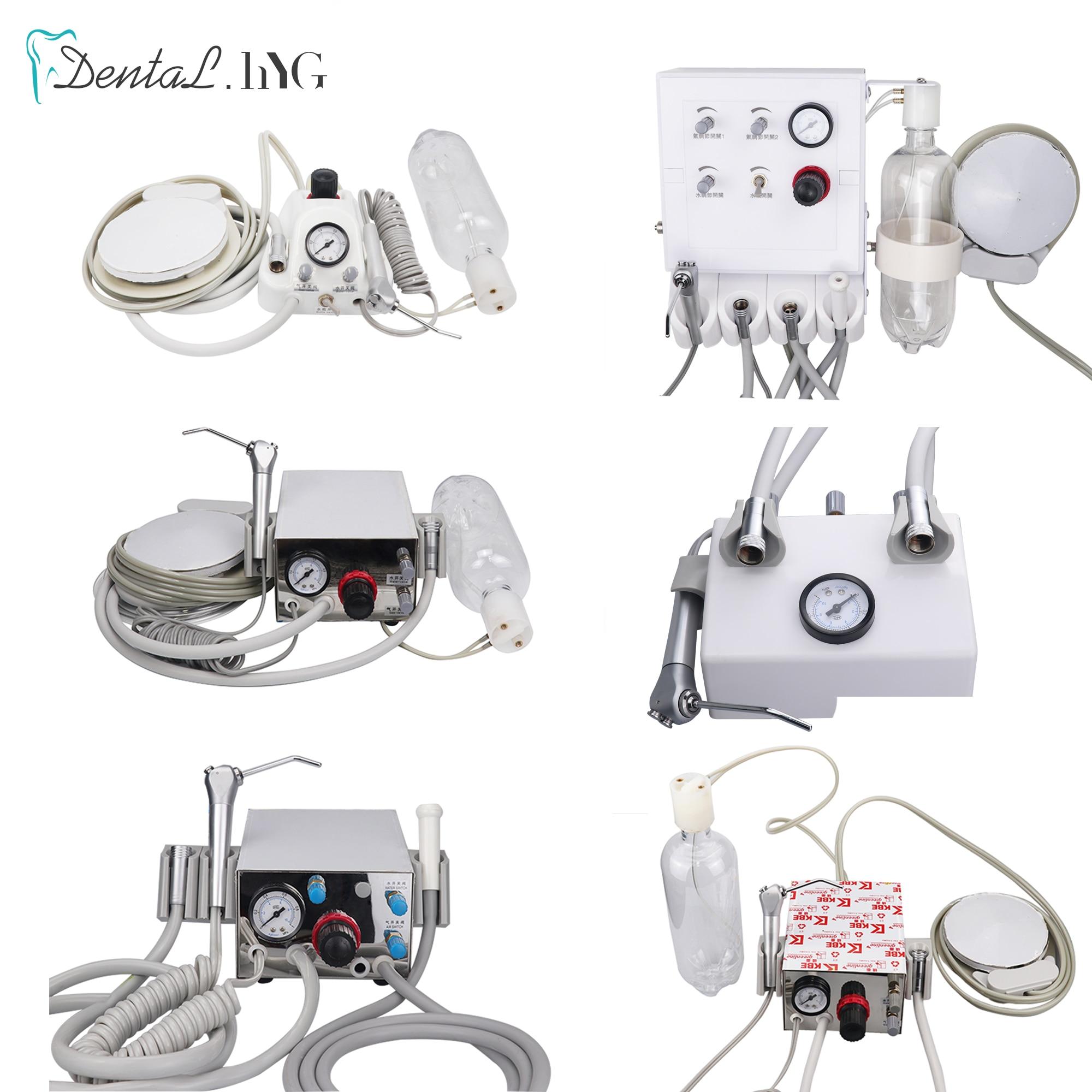 وحدة توربينية محمولة للأسنان تعمل مع ضاغط الهواء 3 طريقة حقنة 2/4 ثقوب معدات تبييض الأسنان الأسنان
