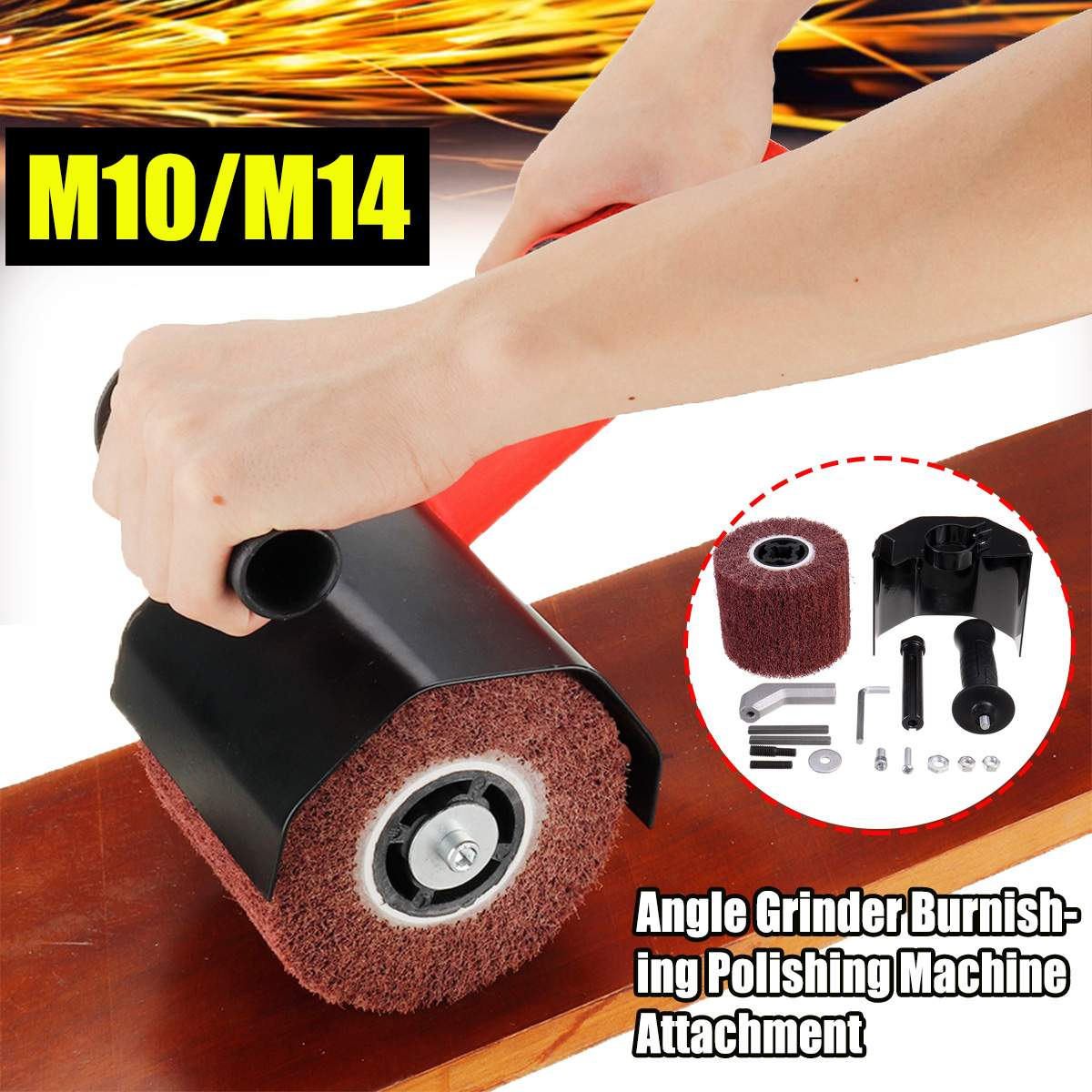 Moedor de Ângulo Multifuncional Elétrico Polimento Acessórios Metal Aço Lixadeira Madeira Terno M10 – M14