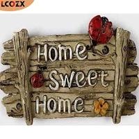 LCOZX     peinture diamant theme  Home Sweet   perceuse complete 5D faite a la main  bricolage  Kits de points de croix  mosaique  broderie  decor de maison
