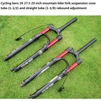 straight forkcone air mountain bike suspension fork plug bounce adjustment front fork bicycle vibration damping 26 27 5 29 inch