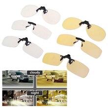 1PC Sunglasses Driving Night Vision Clip on Polarized Glasses Anti UVA UVB For Men Women Sunglasses