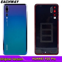 Back Glass Panel for Huawei P20 Pro Battery Cover With Camera Lens Rear Glass Door Housing Case For