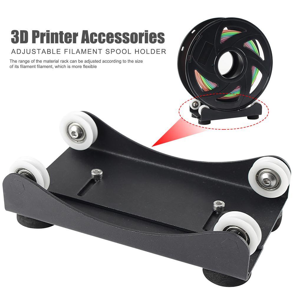 3D Printer Parts PLA Filament Holder 3D Printer Material Rack Filament Spool Holder Material Shelves Supplies Tray With Bearing