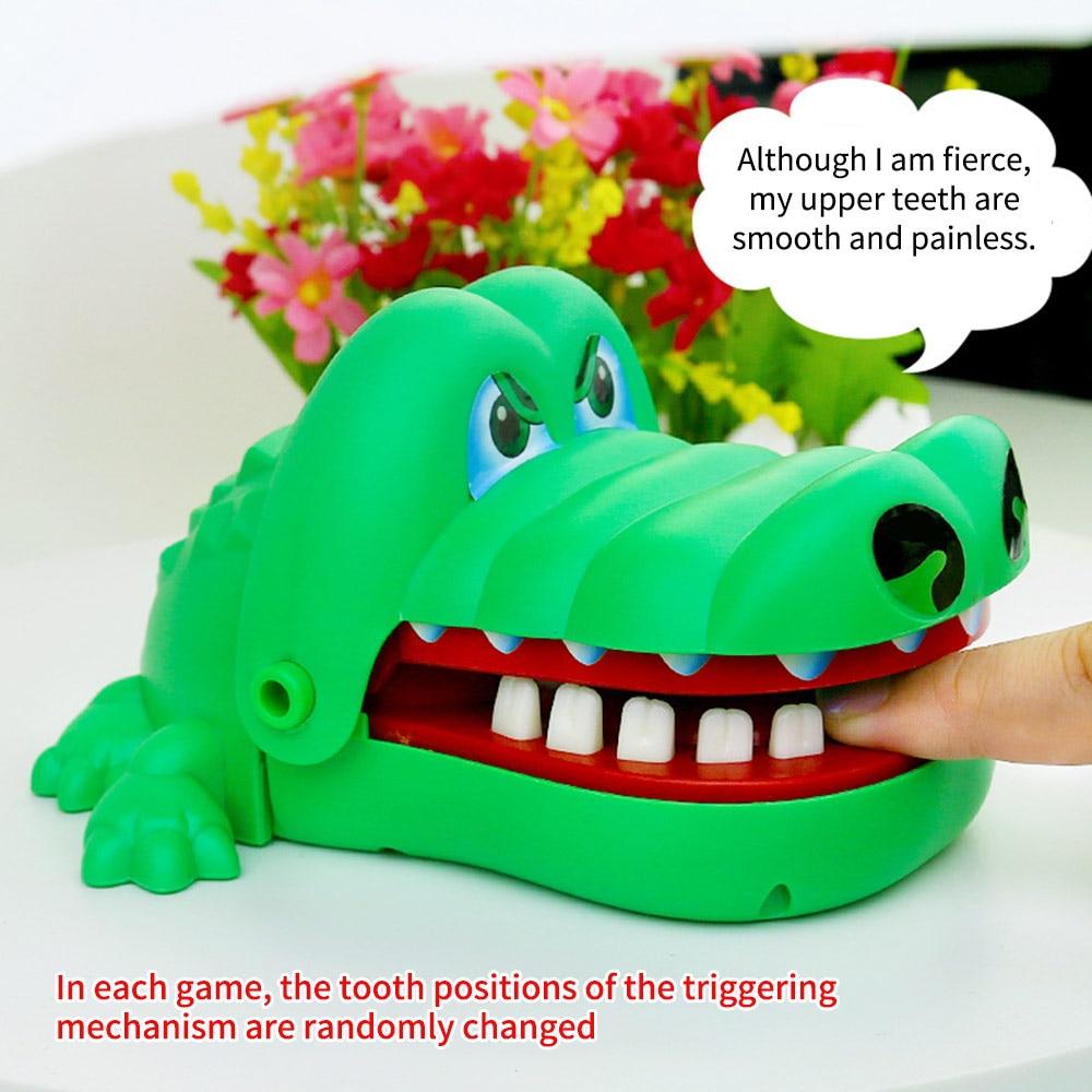 Шутки, игрушка для укуса зубов, стоматолог на палец, забавная игра-крокодил, вытаскивающая зубы, игрушка для детей, классические укусывающие...
