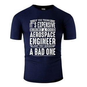 По индивидуальному заказу, хороший аэрокосмический инженер против плохого человека, футболка для мужчин, Черная Мужская футболка, одежда, ...