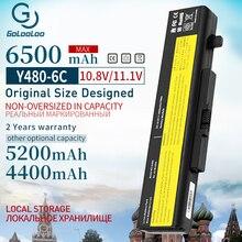 Golooloo 10.8V 6500mAh 6 Cellules Batterie Dordinateur Portable Pour LENOVO G580 Z380 Z380AM Y480 G480 V480 Y580 G580AM L11S6Y01 L11L6Y01