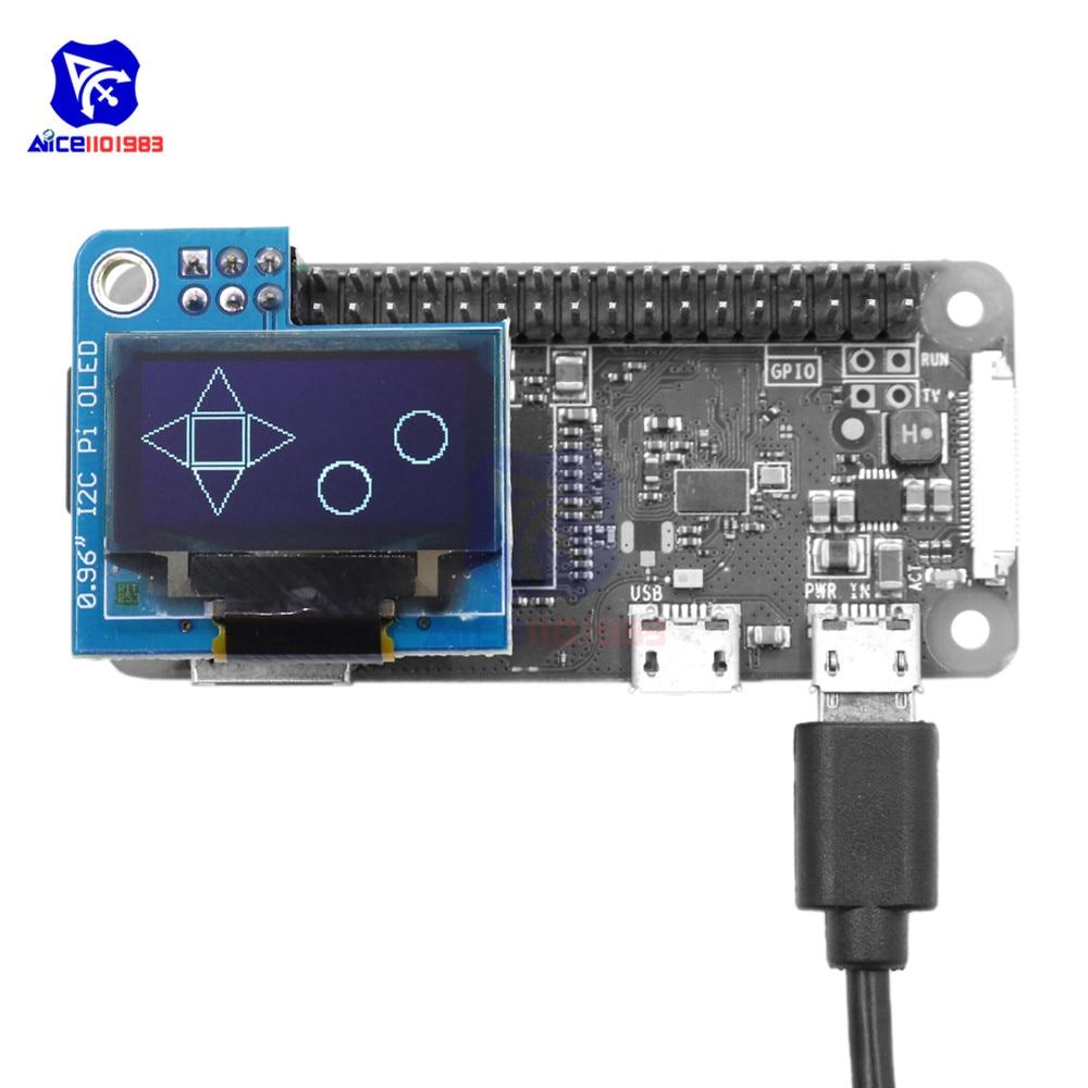 Diymore 0,96 pulgadas I2C Pi OLED pantalla LCD Módulo de 128x64 SSD1306 conductor para Raspberry Pi 1 B + Pi 2 Pi 3 y Pi Zero