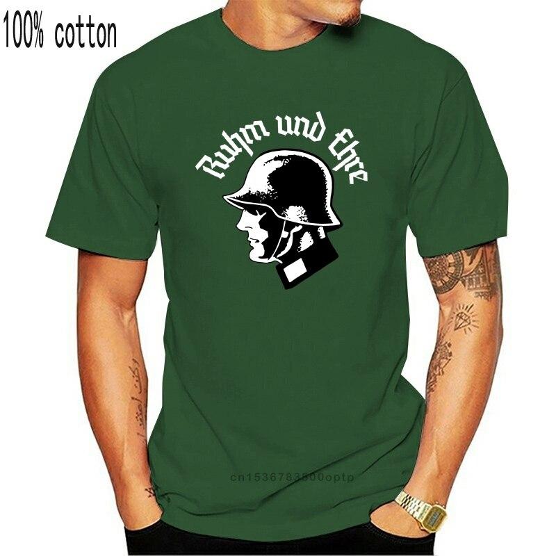 Ruhm und Ehre T-Shirt Wehrmacht WW2 Deutschland Reichsadler Neu schwarz