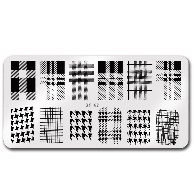 6*12cm luxury brand nail template stainless steel gel nail printing template Christmas plate design printing mold tool  - buy with discount
