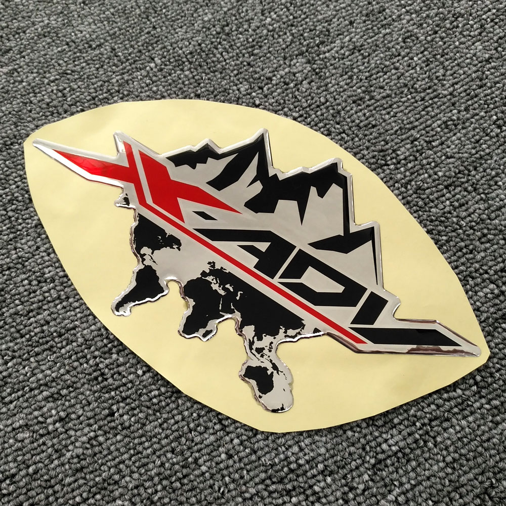 Para honda xadv x adv 750 x-adv X-ADV 750 logotipo 3d painel lateral adesivo da motocicleta adesivos almofada do tanque de combustível protetor carenagem emblema