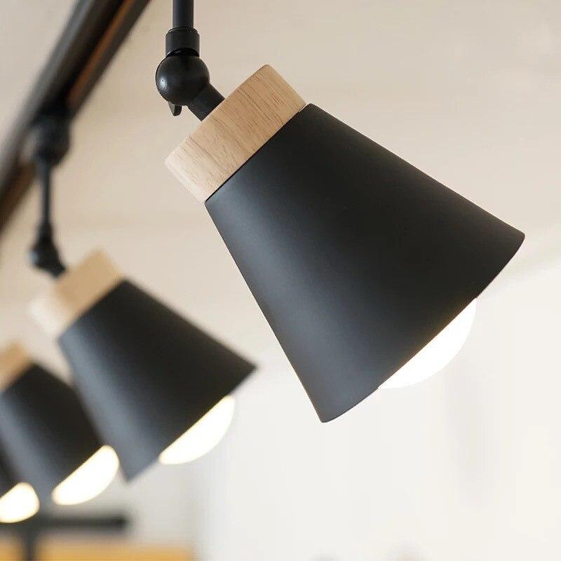 lampada de led com trilho e27 holofotes de teto com iluminacao led lampada com rastreamento