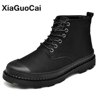2021 autumn winter men military army boots big size warm plush male shoes high top outdoor black ankle martin boots new arrival