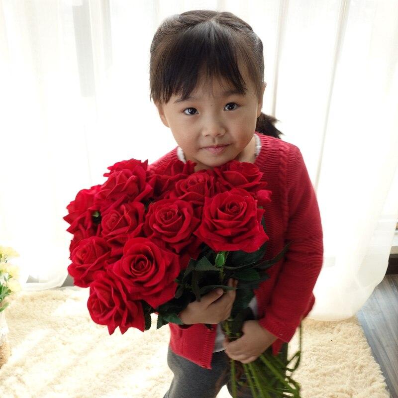 68cm rosas de seda artificial flanela floral falso flores ramo vaso organizar mesa margarida casamento decoração flor casa festa acessório