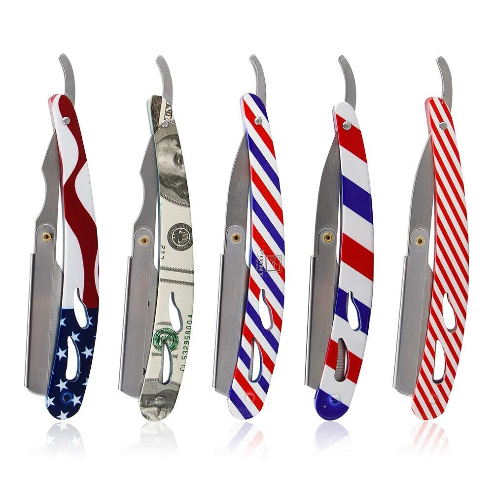 Классическое бритье, бритвенный станок для бритья, держатель для лезвия, ручка из нержавеющей стали, мужские инструменты для стрижки бороды