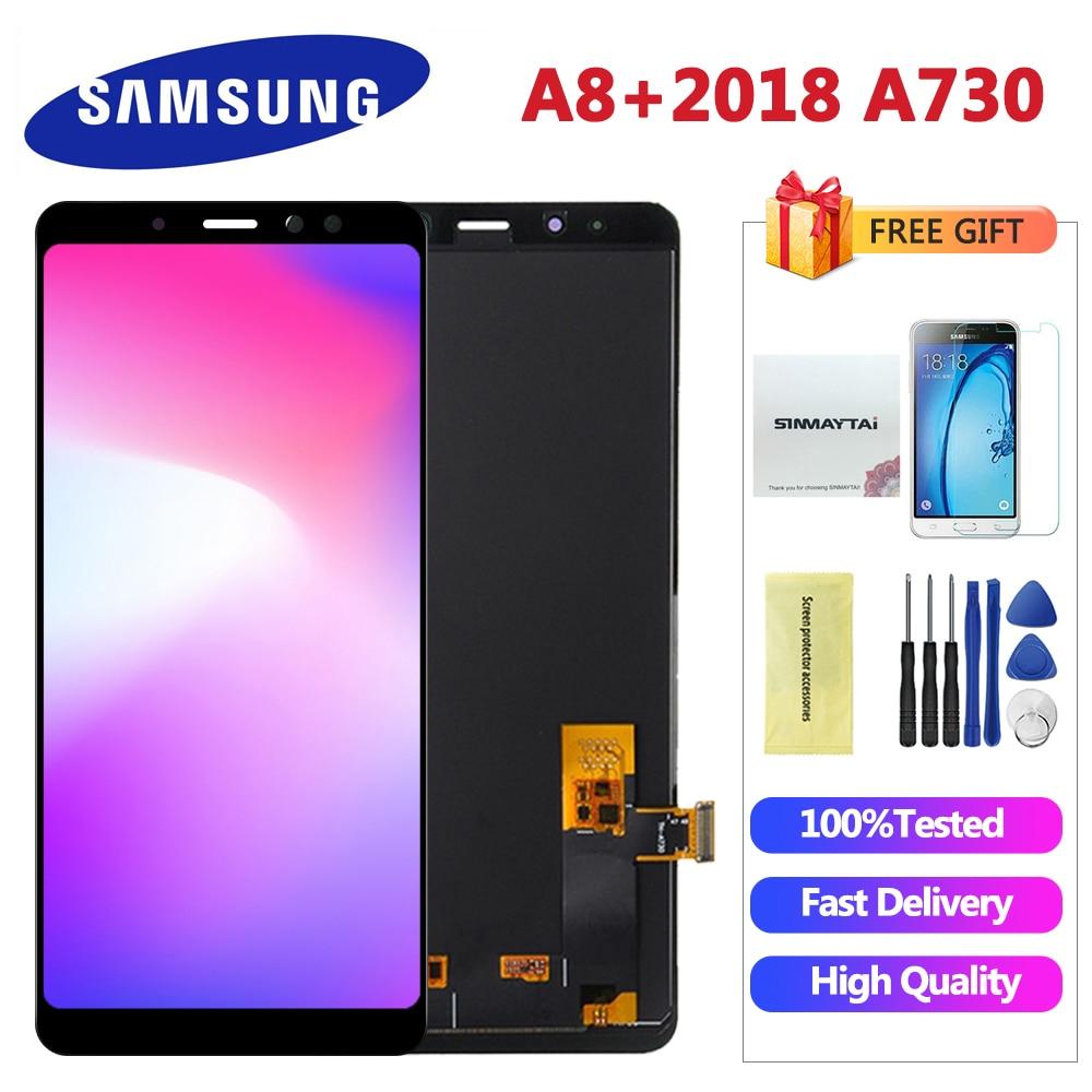 LCD para Samsung Galaxy A8 Plus 2018, A730, A730F, A730F, DS, A730X, pantalla LCD, digitalizador de pantalla táctil para Samsung A8 + Plus 2018, LCD