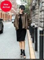 2020 autumn and winter new turkish sheep skin bat sleeve loose coat fashion cloak real leather coat for women