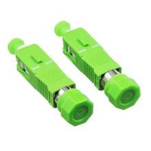 5PCS/lot FC Female to SC APC Male Fiber Optic Adapter Singlemode FC-SC Hybrid Optical Adaptor
