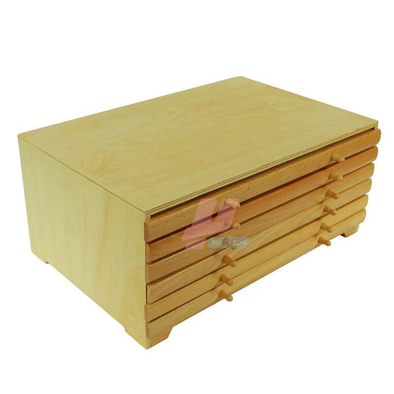 Montessori teaching aids childrens educational early Montessori geometry cabinet graphic panel cabinet montessori toys