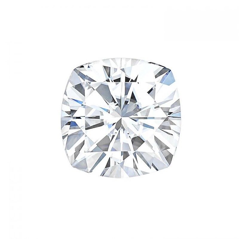اختبار إيجابي ماركة مويسانيت الماس اختبار إيجابي 7.5 مللي متر 2CT F اللون VS1 ممتاز قطع وسادة مويسانيت الماس فضفاض