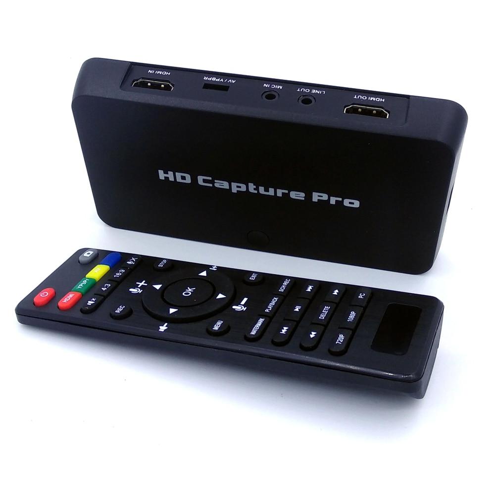 EzCAP295 HD Capture Pro ، تسجيل الفيديو في حل 1080P من HDMI/YPBPR إلى قرص فلاش USB مباشرة ، لا يحتاج الكمبيوتر إلى PVR ، تشغيل