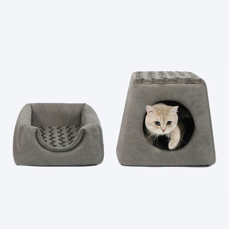 Ninho de Dupla Finalidade Gato Maca Quatro Estações Canil Universal Dobrável Cama Pet um