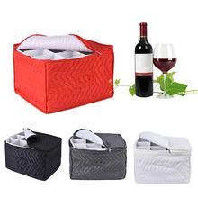 Stemware Storage Chest Case Goblet Storage Bag 12 Dividers for Protecting Wine Glasses Champagne Flutes Goblets