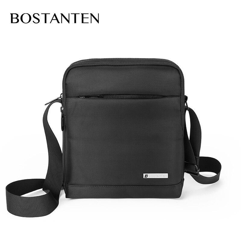 Мужская вместительная квадратная кросс-боди сумка BOSTANTEN с регулируемым плечевым ремнем