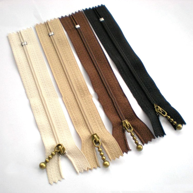 10PCS Water Droplets Shape Zipper Metal Zipper for Sewing DIY Handbag Bag and Craft Metal Zippers for Sewing 15/20/25cm