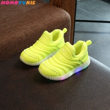 fashionable toddler baby kids shoes for boys girls children's shoes sneakers glowing sneakers led li