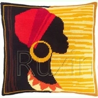 latch hook kits diy 3d segment embroidery pillow embroidered handcraft pillow case african girl package coarse wool cross stitch