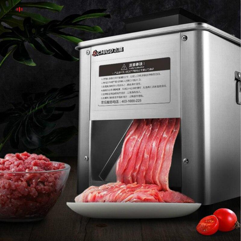 850 واط آلة تقطيع اللحوم مفرمة لحم تجارية الكهربائية الصغيرة سلك القاطع قطع الخضار slicer التلقائي بالكامل الفولاذ المقاوم للصدأ