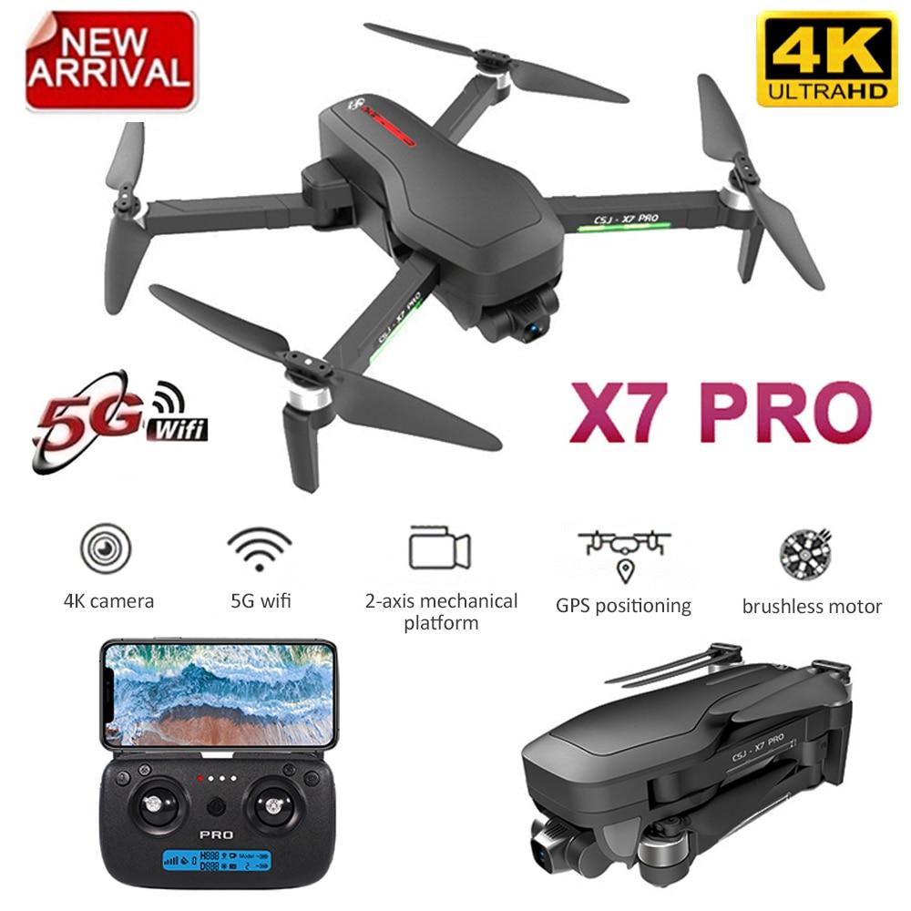 2020 de las congregaciones X7 PRO GPS Drone con cámara 4K 5G Wifi de 2 ejes cardán sin escobillas RC Quadcopter posicionamiento de flujo óptico plegable Drones