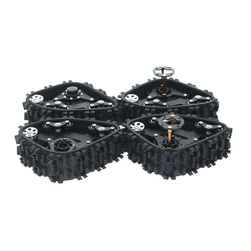 4 Uds rueda de pistas Sandmobile conversión neumático de nieve para Axial SCX10 I II AX90016 90027 90035 90036 90037 1/10 RC oruga Coche