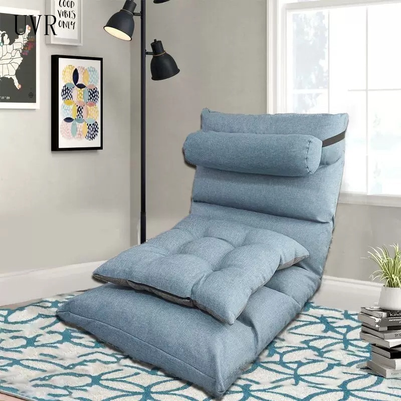 UVR أريكة استرخاء تاتامي للطي واحدة صغيرة أريكة كرسي غرفة نوم السرير شرفة خليج نافذة كرسي الكمبيوتر كرسي القراءة قابل للتعديل