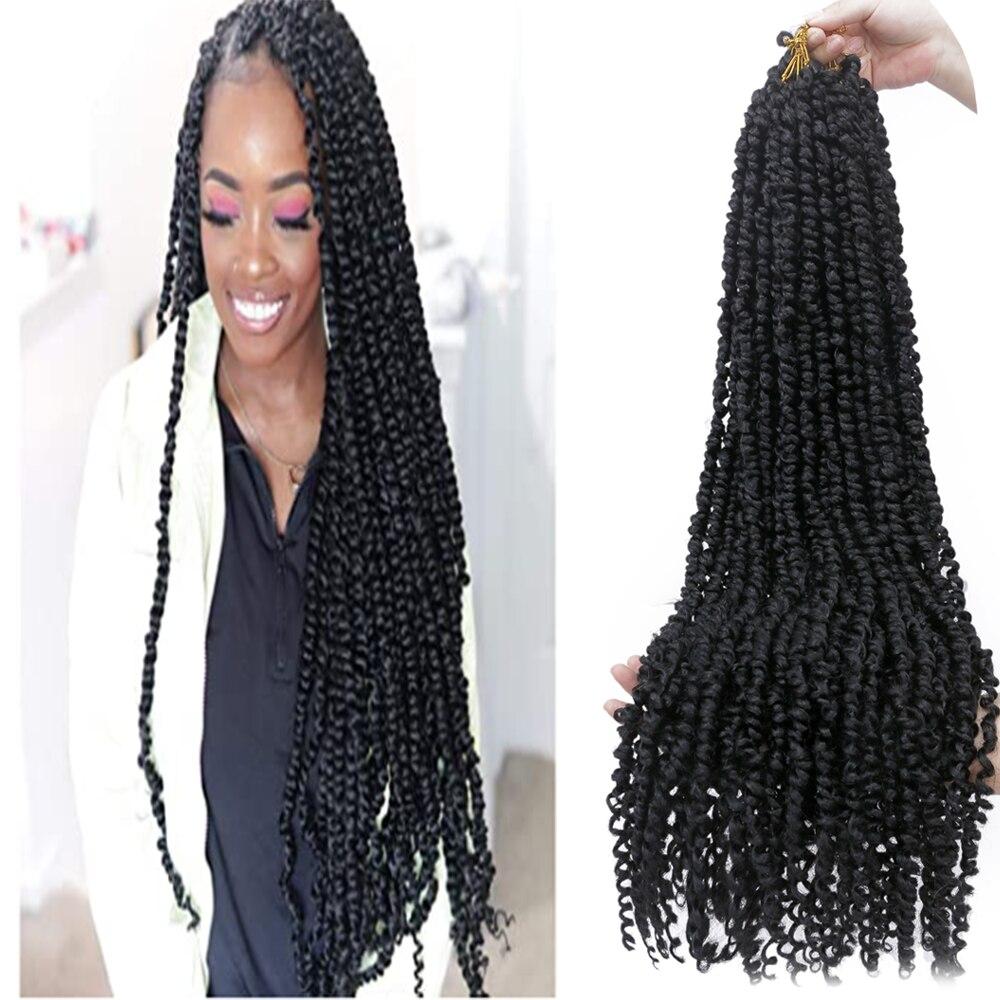 Capelli intrecciati pre-loop soffici capelli intrecciati all'uncinetto 30 pollici sintetici 11 fili Pre attorcigliati passione Twist capelli all'uncinetto
