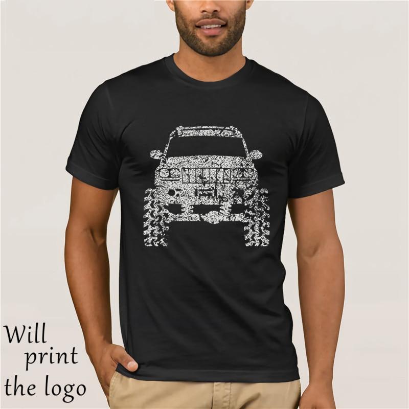 2018 algodão manga curta roupas masculinas grand cherokee wj rosa offroad 4x4 camiseta