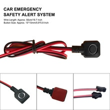 JH16 Car Emergency Security Switch Security Alarm Emergency Panic Switch Shift Push Button Universal
