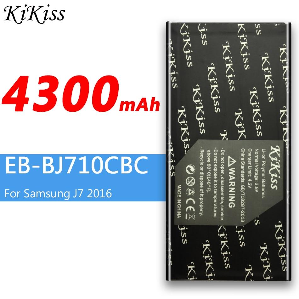 4300mAh For Samsung Galaxy J7 (2016 Edition) Phone Battery SM J710 J710F J710FN J710M J710H J7(2016) DUOS EB-BJ710CBC