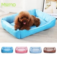 summer pet bed cool pet products cold pad ice silk mat solid kennel soft cushion for medium small dog washable pet bed for cat
