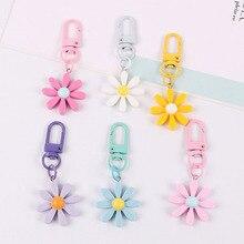 Fait à la main mignon coloré bonbons fleurs porte-clés casque couverture porte-clés dessin animé sac de charme voiture pendentifs porte-clés bijoux cadeau