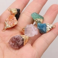 2021 fashion new natural semi precious stone bud multicolor irregular shape pendant handmade diy necklace accessories gift party