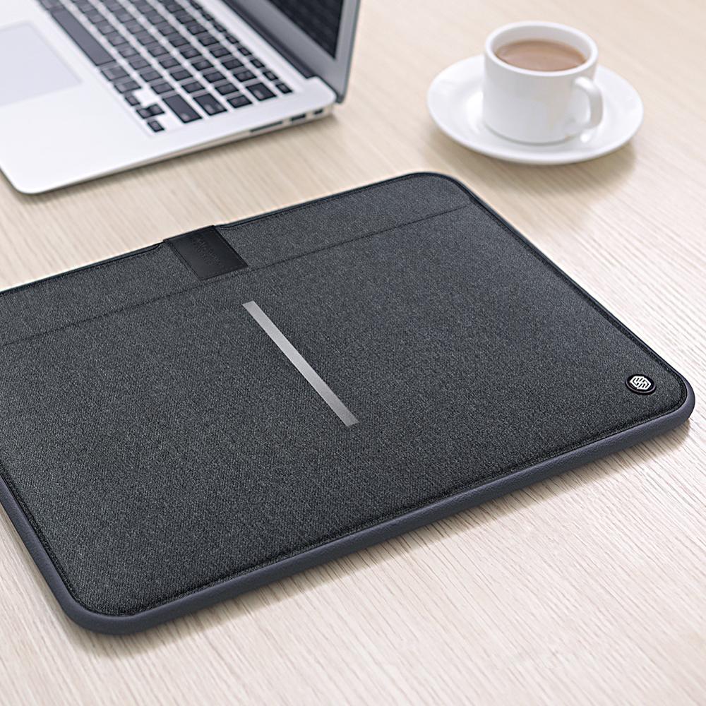 NILLKIN-حقيبة جلدية مضادة للماء لجهاز Macbook ، حقيبة كمبيوتر محمول أقل من 16 / 13.3 بوصة ، مع غطاء واقي