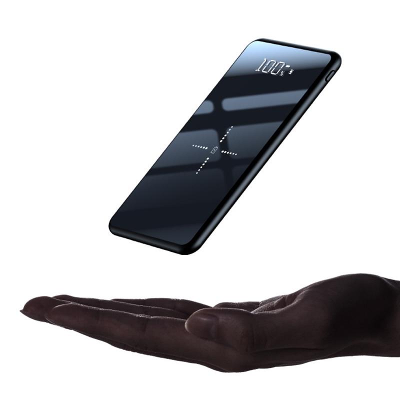 Cargador inalámbrico Qi de 10000mAh, Banco de energía Delgado, batería externa, cargador inalámbrico rápido para Xiaomi Mi 9 iPhone